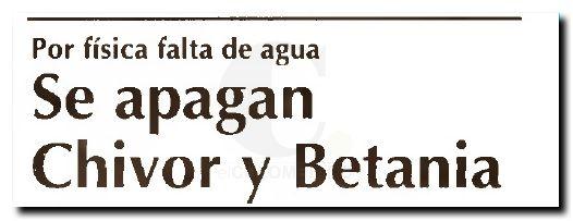 Se apagan Chivor y Betania - El Colombiano