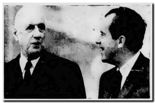 Nixon y de Gaulle