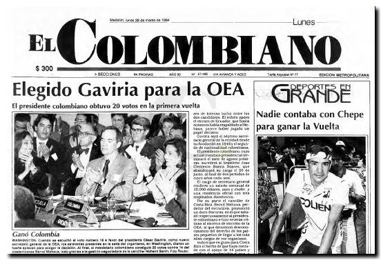 César Gaviria OEA