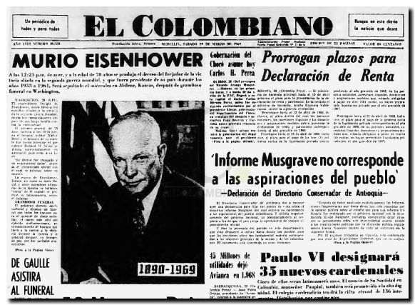 Eisenhower fallecio