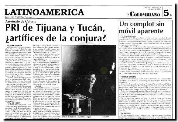 Luis Donaldo Colosio Investigaciones