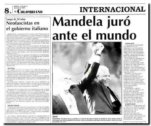 Mandela posesión