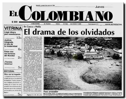 Avalancha en Cauca