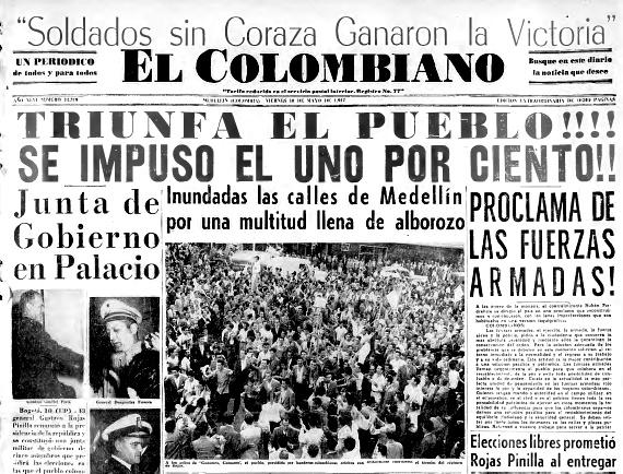 Rojas Pinilla 1957