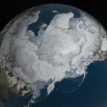 Extensión de hielo en el Ártico. Foto Nasa