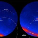 Trayectoria de neutrinos y región de procedencia. Cortesía Nasa