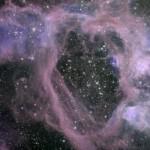 Burbuja dejada por explosiones estelares en la Gran Nube de Magallanes. Foto Telescopio Gemini del Sur