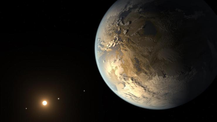 Ilustración de cómo debe ser Kepler-186f. Imagen NASA Ames/JPL-Caltech/T. Pyle