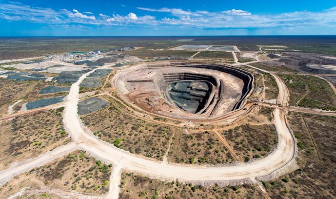 Mina de diamantes Karowe en Botswana, número 20 en las productoras de diamantes. Foto Lucara