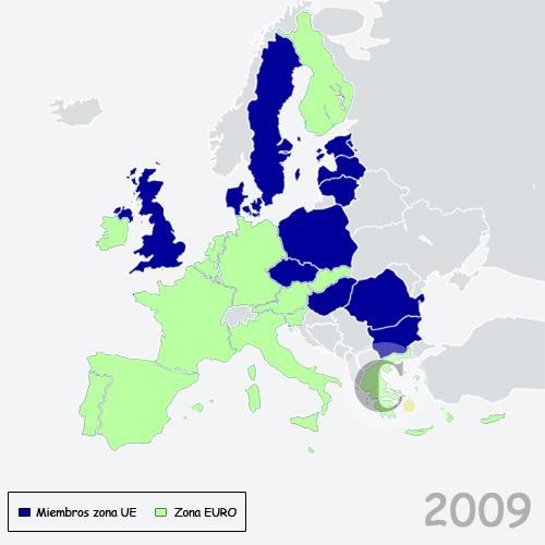 Una Europa integrada, aunque con diferentes niveles de profundidad: no todos se vinculan a la Zona Euro.