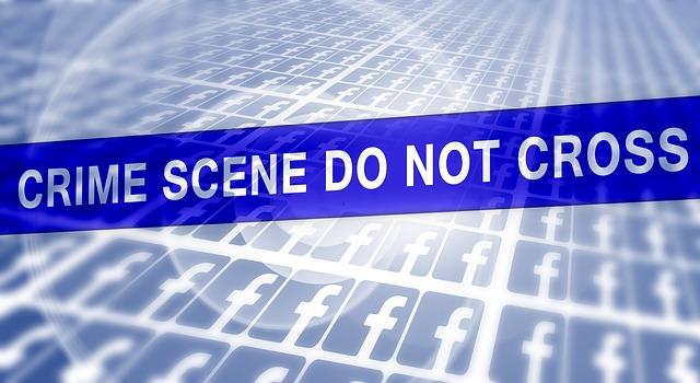 red social escena de crimen