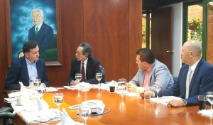 De izquierda a derecha: Mauricio Tobón, José Luis Rhisausi, Alexander Zuluaga y Alexander Colorado