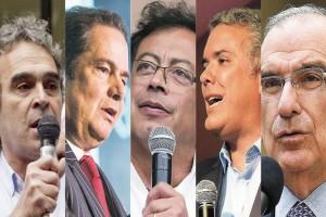 Candidatos presidenciales Colombia - Imagen tomada de prensa latina