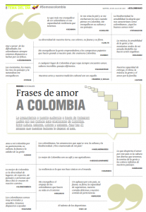 Frases de amor a Colombia