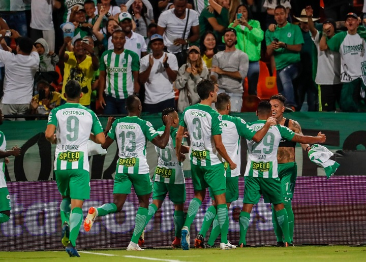 Nacional tendrá que recobrar la memoria del gol y evitar gol en contra. La diferencia de dos goles exige al equipo de Almirón. FOTO EL COLOMBIANO