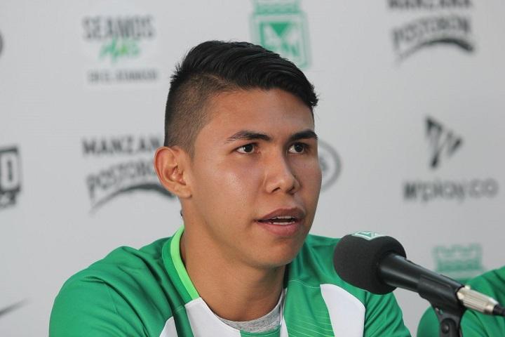 Nicolás Hernández tiene 21 años, nació en Villavicencio e hizo su debut como profesional ante Once Caldas con Atlético Nacional. Foto @nacionaloficial
