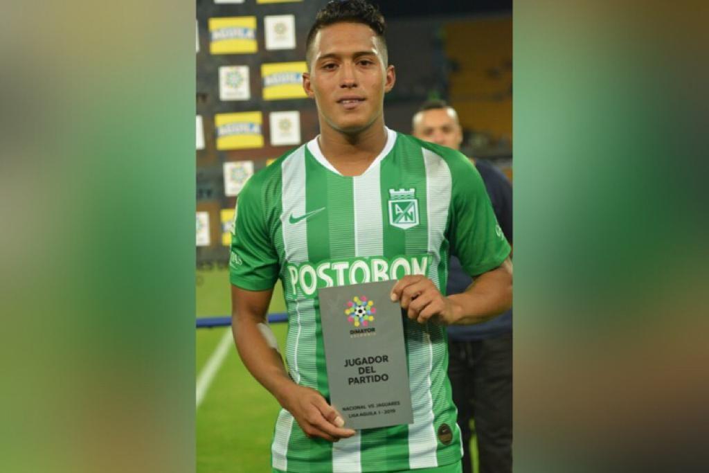 Sebastián Gómez se ha destacado como jugador del partido en los últimos dos encuentros de Nacional. Foto @Dimayor