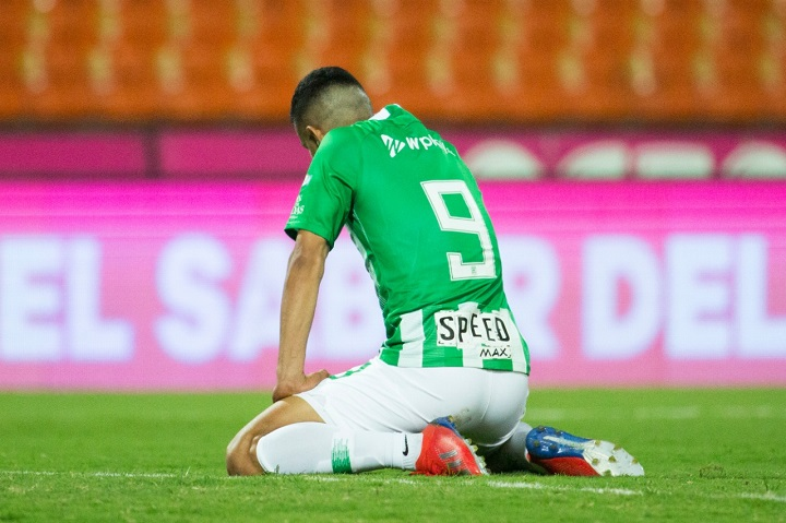 La mala fortuna de Ómar Duarte frente al arco ha sido constante en los últimos partidos. Foto El Colombiano