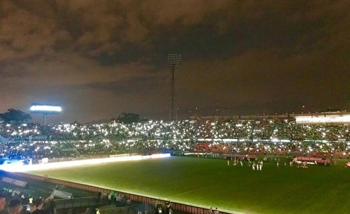 Al Atanasio se le fueron las luces en el partido de la noche del jueves... A Nacional también. Foto PULSO VERDE.