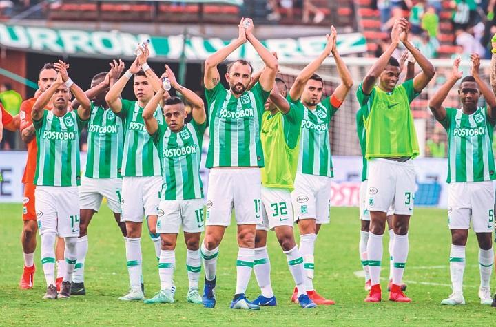 Que la alegría y el ímpetu del equipo celebrando los goles se mantenga como actitud en la cancha. Foto Juan Antonio Sánchez-El Colombiano