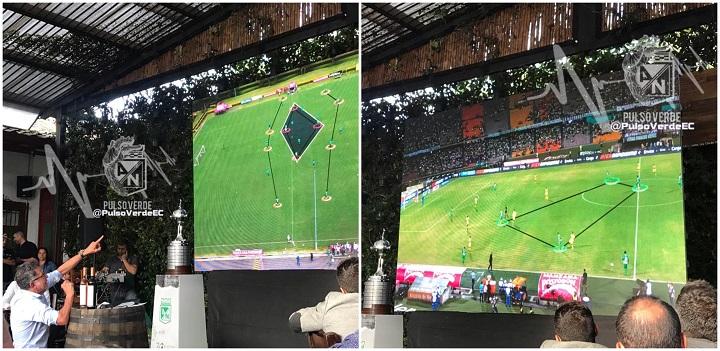 La imagen izquierda corresponde a un entrenamiento. La derecha a un partido.