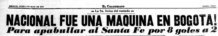 Titular de EL COLOMBIANO del lunes 3 de mayo de 1954.