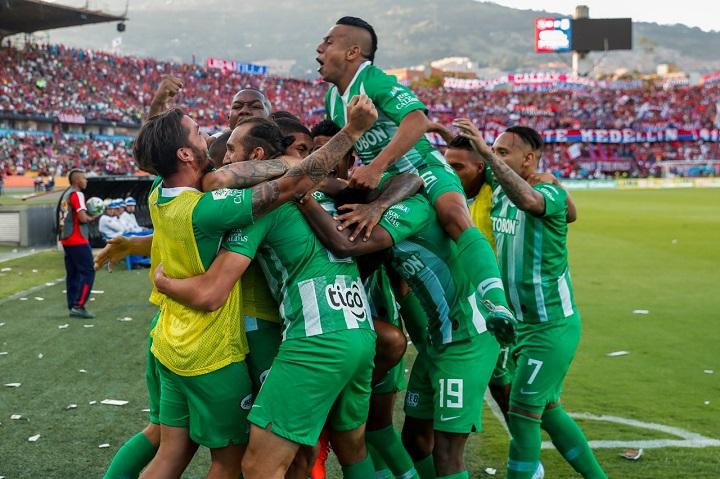 En menos de 20 días, Nacional le anotó nueve goles a Medellín, muestra del poder ofensivo. FOTO EL COLOMBIANO.