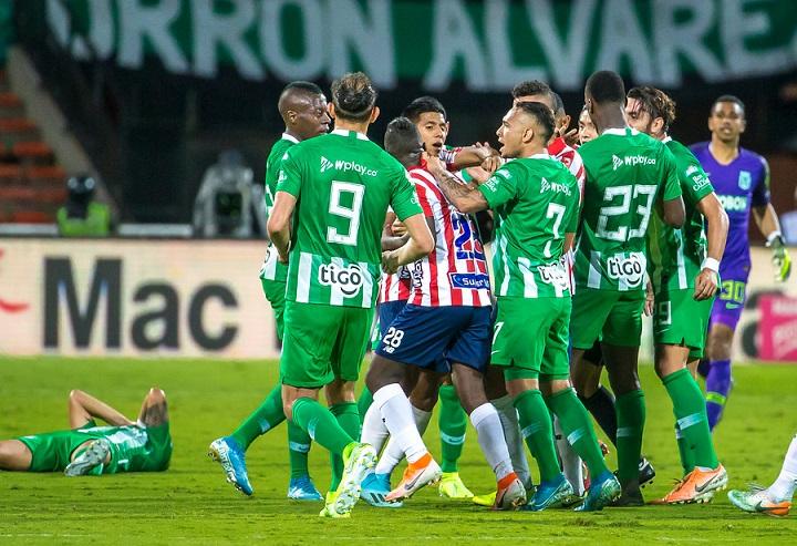 Nacional se volverá a enfrentar en la próxima fecha ante el Junior, esta vez en el estadio Metropolitano de Barranquilla. FOTO JUAN ANTONIO SÁNCHEZ- EL COLOMBIANO.