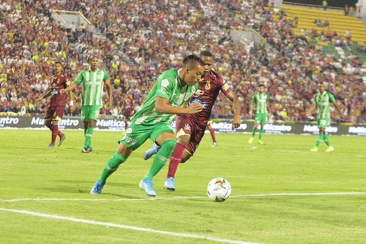 Sebastián Gómez era uno de los jugadores que más pedía la hinchada. Ante Tolima jugó todo el segundo tiempo. FOTO COLPRENSA.
