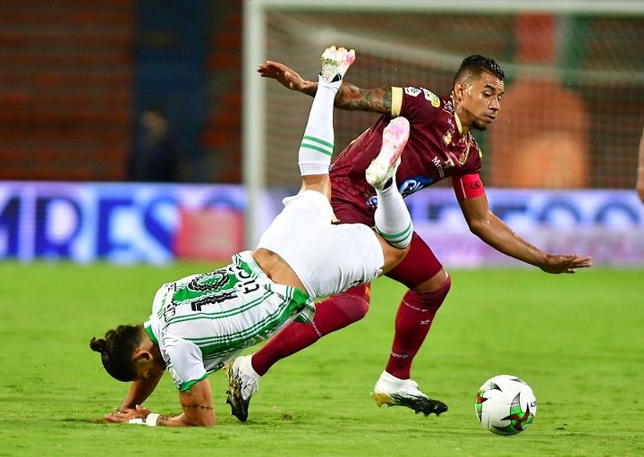 Atlético Nacional volvió a jugar en el Atanasio después de más de siete meses, pero el regreso fue con derrota. FOTO EL COLOMBIANO.
