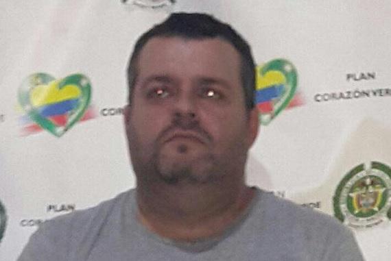 """Rubén Darío Ramírez, alias """"Monín"""", presunto cabecilla de la """"Odín Caicedo"""" y """"la Oficina"""". Cortesía."""