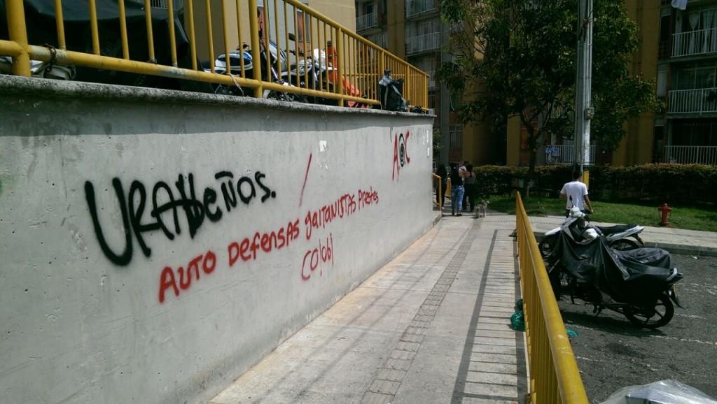 Grafiti pintado en el barrio Belén Rincón, del suroccidente de Medellín. Cortesía.