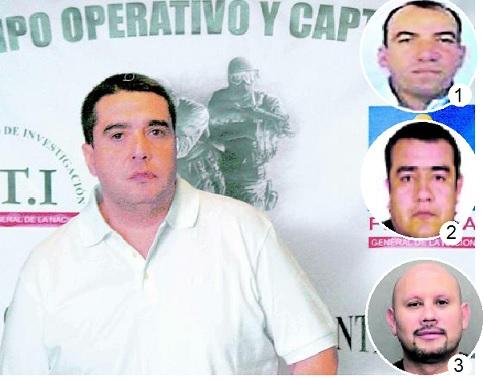 """Personas que confesaron crímenes en E.U. y salieron de prisión sin órdenes de captura en Colombia:en la foto principal, alias """"Botija""""; 1). """"Rogelio""""; 2). """"Gordo Tavo""""; 3). """"El Médico"""". Fotos de archivo."""