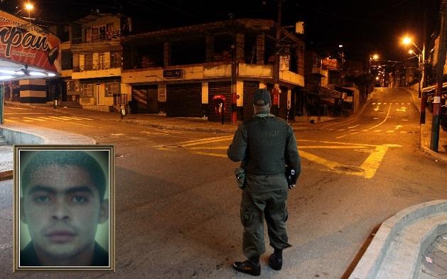 """Este es el sector Tres Esquinas, donde fue asesinado """"el Mellizo""""; en el recuadro, aparece alias """"Motitas"""". Fotos de Manuel Saldarriaga y cortesía."""