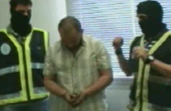Así presentó la Policía de España a González, cuando lo arrestó en 2010. Cortesía Policía de España.