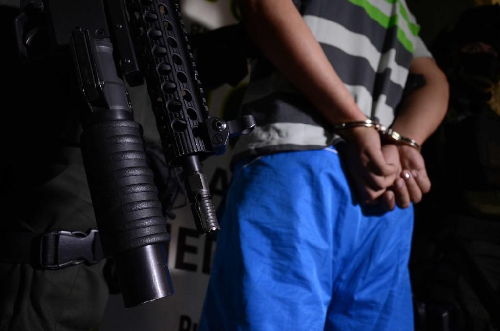 """Los cabecillas detenidos trabajaban para las bandas """"San Pablo"""" y """"la Matecaña"""", en el norte de Medellín. Cortesía Policía."""