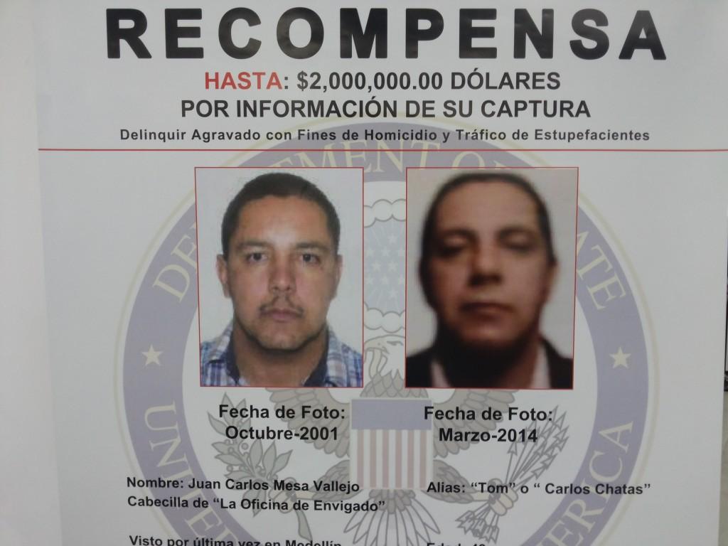 """E.U. anunció que recibirá la información sobre """"Tom"""", con absoluta reserva, en el correo electrónico DEA-Bogota-Tips@usdoj.gov. También en los teléfonos 300 683 2586 y 300 685 1375. Foto de Cortesía."""