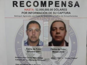"""E.U. recibirá la información sobre """"Tom"""" en el correo electrónico DEA-Bogota-Tips@usdoj.gov. También en los teléfonos 300 683 2586 y 300 685 1375. Foto: cortesía."""