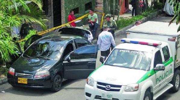 En la maleta de este automóvil fue encontrado el cuerpo del ciudadano antioqueño, quien vivía en Panamá. Foto: Diana Lozano Perafán.