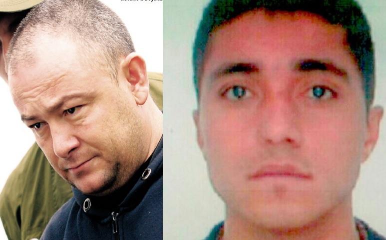 """A la izquierda, José Leonardo Muñoz, alias """"Douglas""""; a su lado, Juan Carlos Bedoya Duque (""""el Cabe"""")."""