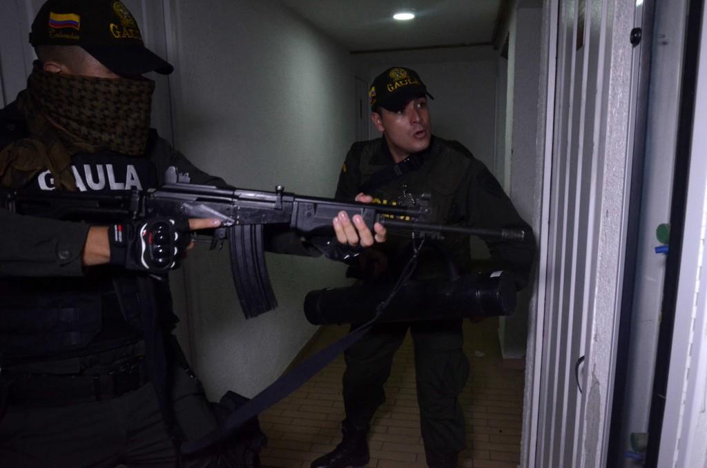 En los operativos participaron los grupos especiales de la Policía Metropolitana, entre ellos la Sijín y el Gaula. Foto: Cortesía de Policía.