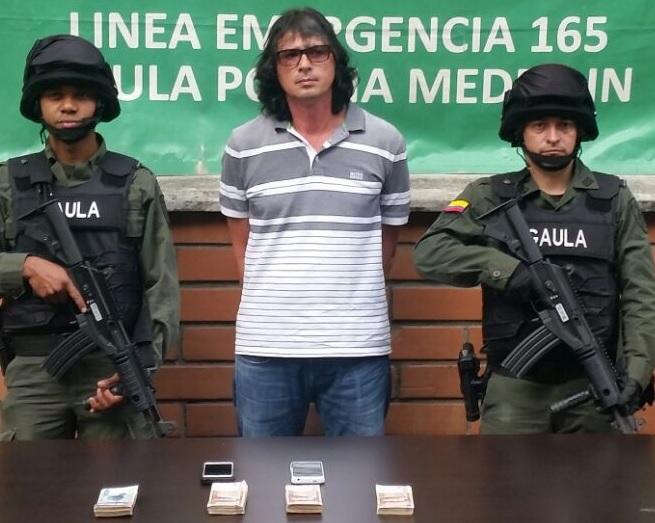 Diego Alberto Muñoz Agudelo nació en Medellín y tiene 47 años de edad. FOTO: Cortesía de la Policía.
