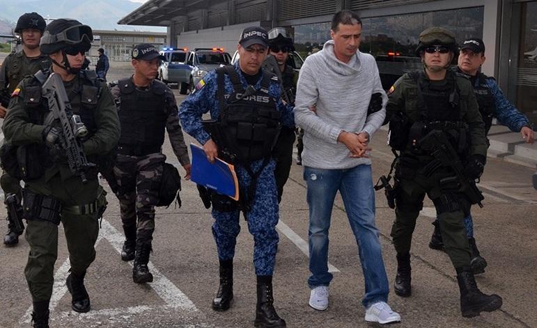 """Alias """"Diego Chamizo"""" fue trasladado a la cárcel de Cómbita (Boyacá), porque al parecer seguía dando órdenes desde la prisión de El Pedregal. Foto cortesía de Policía."""