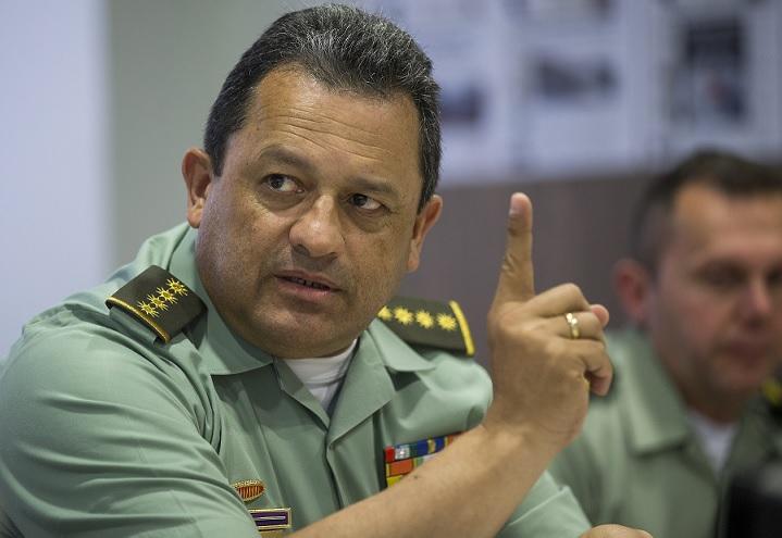 El general Jorge Nieto Rojas, director de la Policía Nacional de Colombia. Foto de Esteban Vanegas.