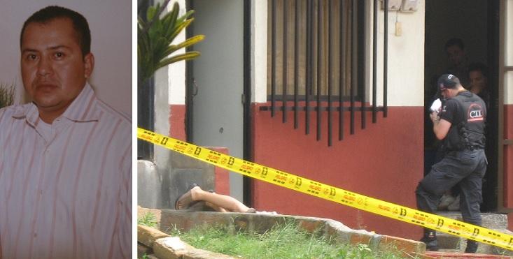 El policía Rodolfo Gaviria Barragán fue asesinado en la entrada de su casa, en Aranjuez. Fotos de archivo.