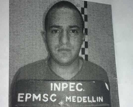 """Fotografía de reseña de """"Alejo Cachama"""", cuando fue arrestado por primera vez en 2011. Foto de cortesía."""