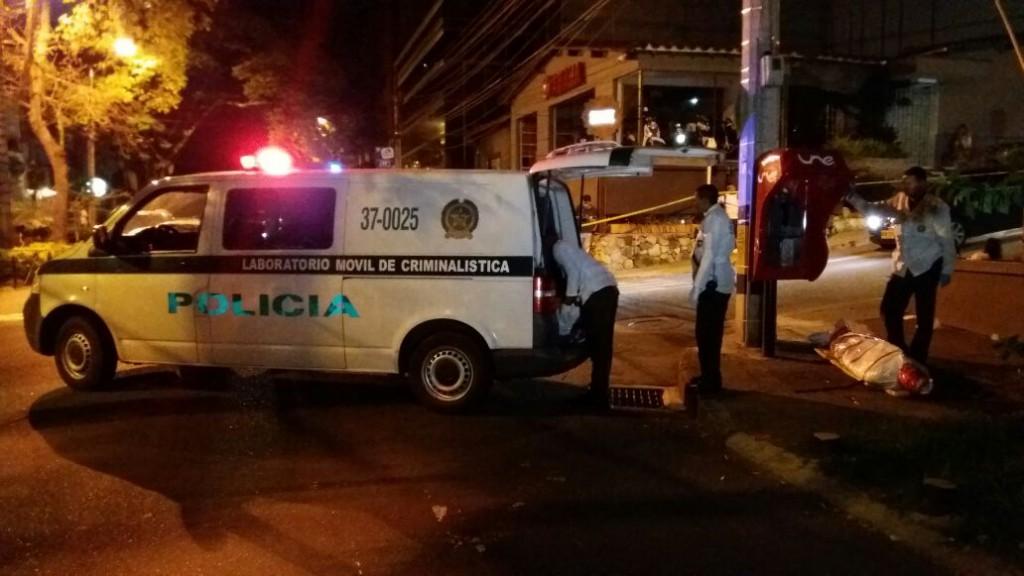 En esta esquina de El Poblado fue asesinado a bala Tomas Willemoes, en junio de 2016. Foto de cortesía.