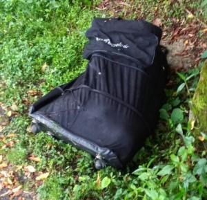 Esta es la maleta en la que los asesinos introdujeron a la víctima. Foto de cortesía.