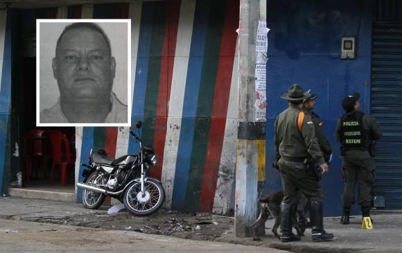 """En esta esquina de El Raudal se presentó el ataque con granada en 2014; en el recuadro aparece el sospechoso de ordenarlo, alias """"Mono Picacho"""". Fotos de cortesía."""