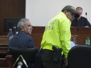 Gustavo Villegas, durante la audiencia de control de garantías. Foto de Manuel Saldarriaga.